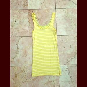 American Eagle Pale Yellow and white striped